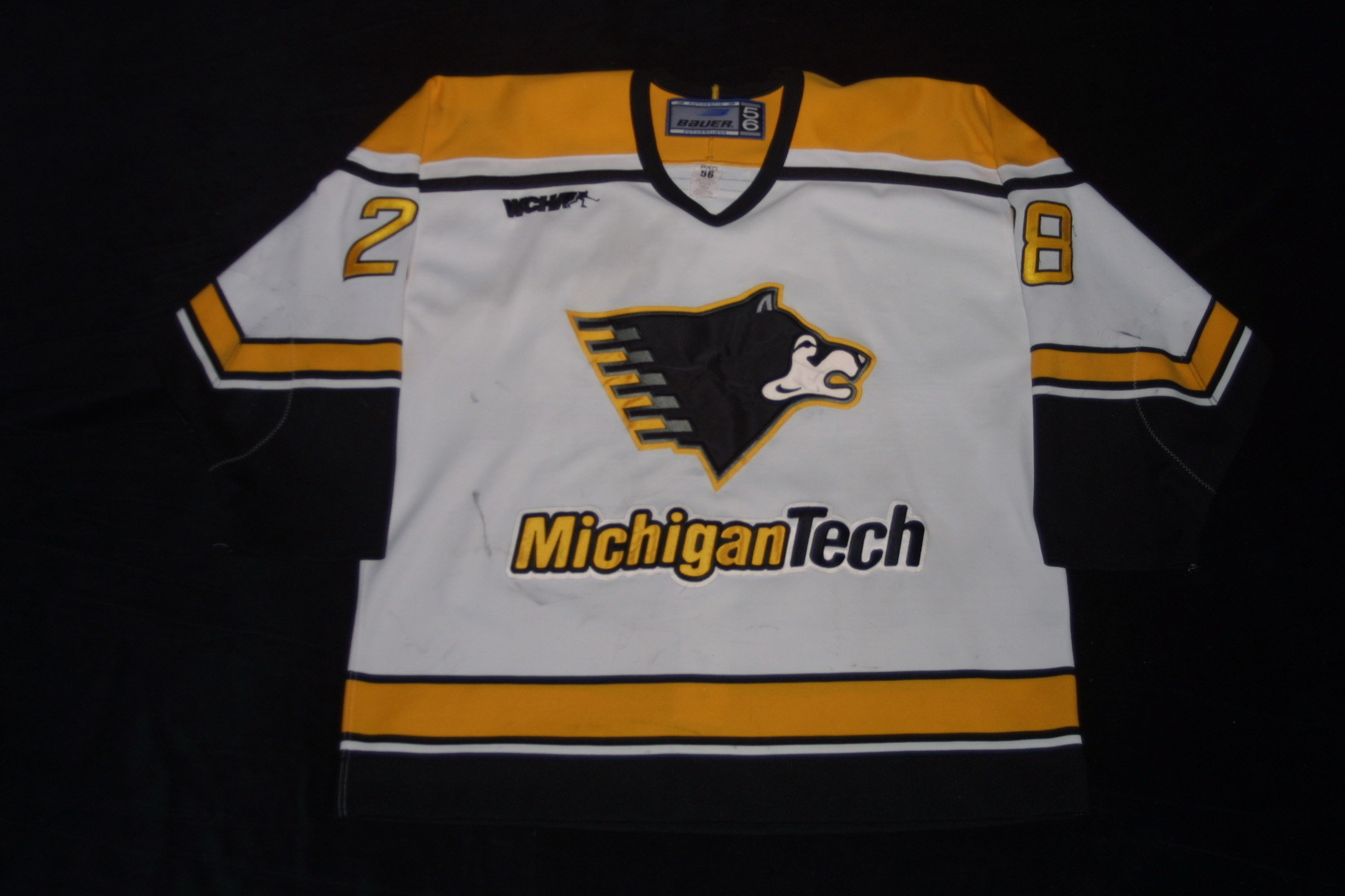 Michigan Tech Game Used Equipment at Johnson s Jerseys 8cc8e47ef50